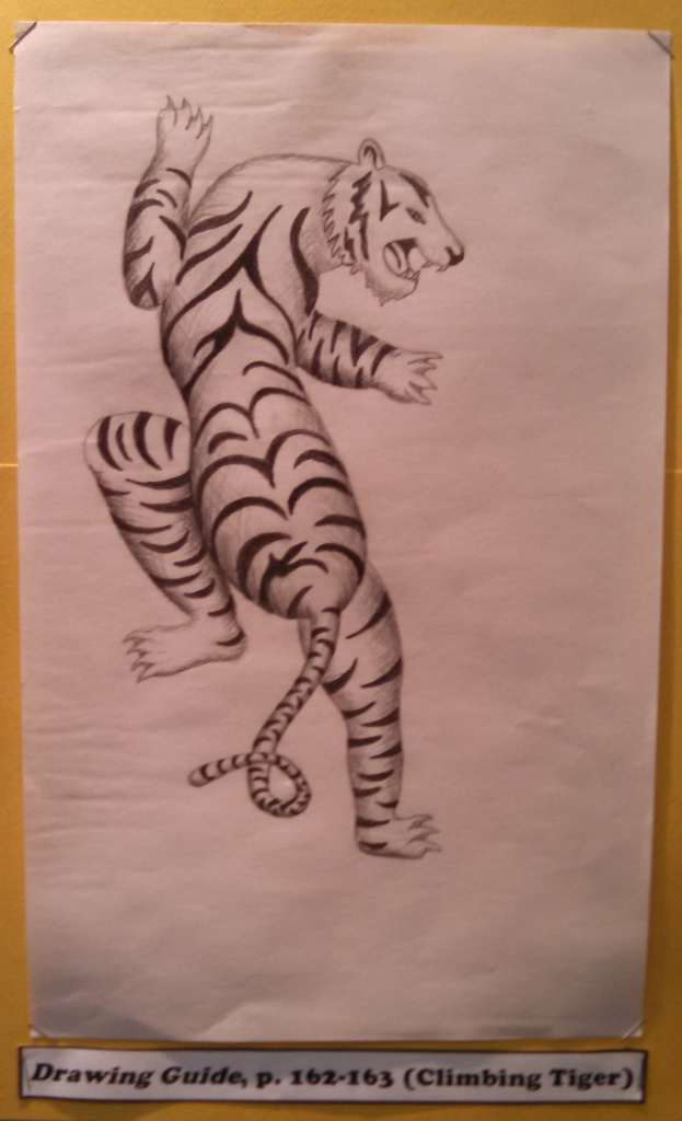 Drawing of tiger