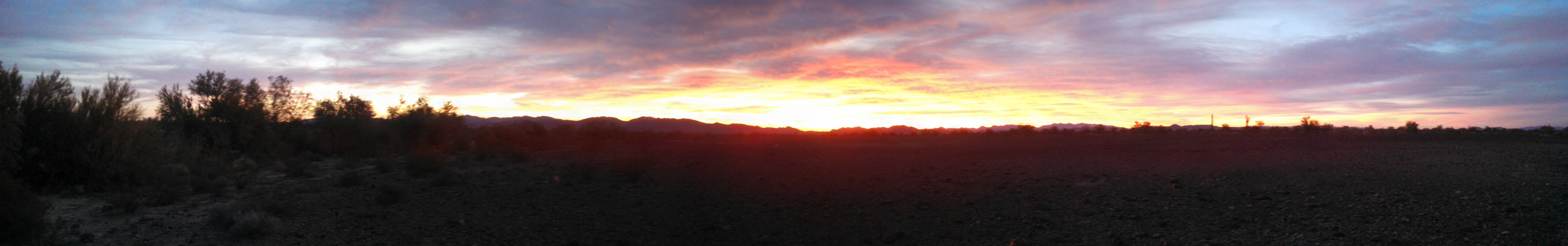 Another beautiful sunset in the desert